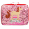 Koffer glitter paard