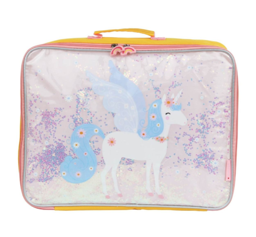 Koffer: Glitter - eenhoorn