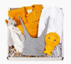 kraampakket wolfje wayne geel