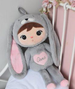 knuffelpop konijn met naam