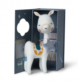 lama in gift box