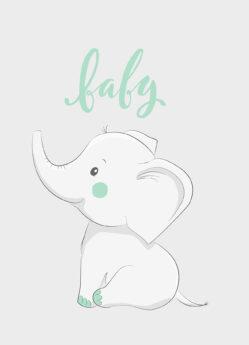 Kaartje mint olifant